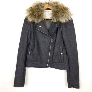 Cartonnier | Jolie Moto Style Fur Collar Jacket 6